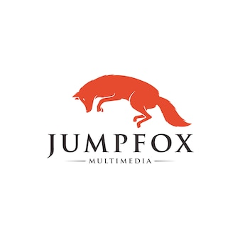 Jumping fox logo
