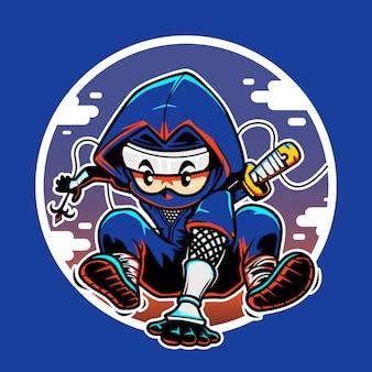 Jumping ninja icon