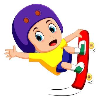 Прыгающий скейтбордист