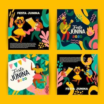 June festival card collection design