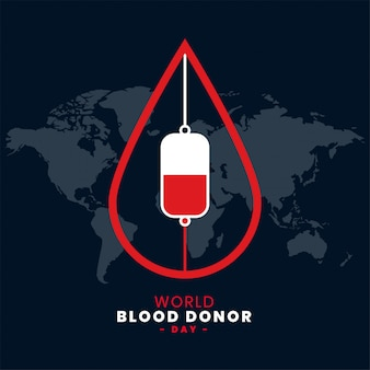 June world blood donor day background