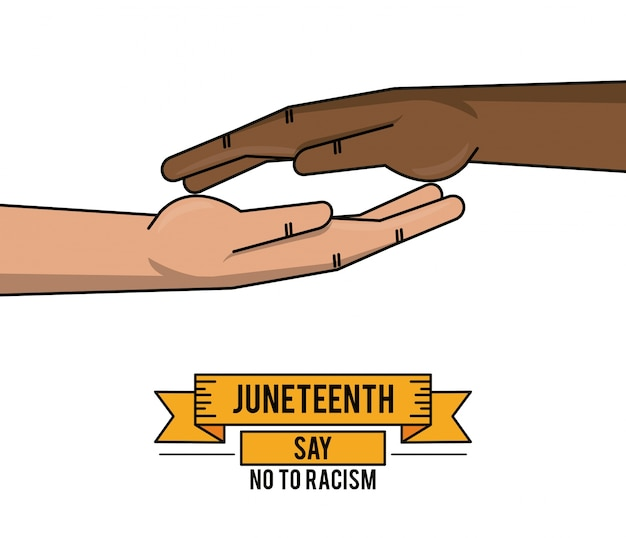 Juneteenth day together hand fight freedom
