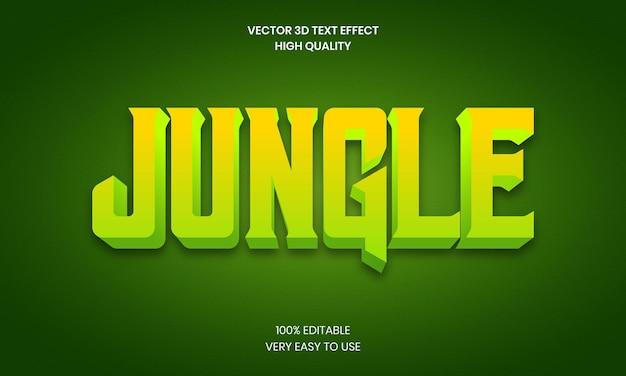 Jungle 3d editable text effect premium vector