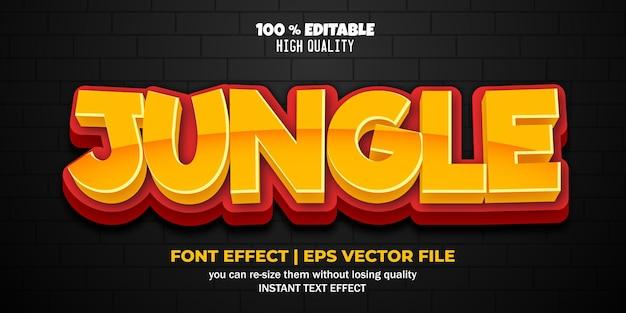 Редактируемый текстовый эффект джунгли 3d