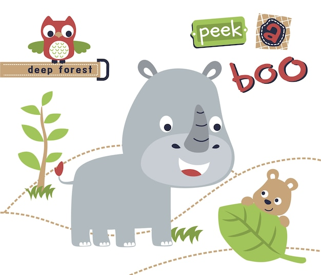 Jungle animals cartoon vector