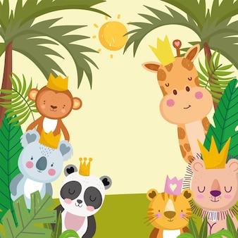 ジャングルの動物の漫画