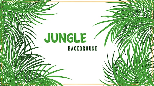 Jungle background. green tropical palm leaves background