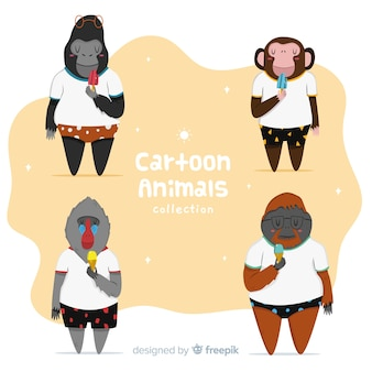 Jungle cartoon animal collection