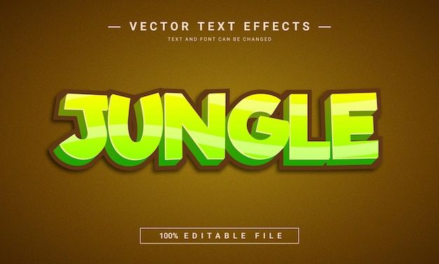 Jungle cartoon style text effect