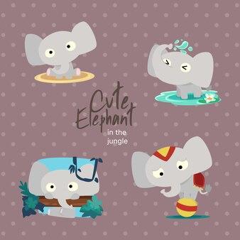 Jungle cute elephant