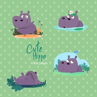Jungle Cute Hippo