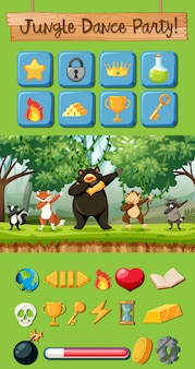 Jungle dance party game pack