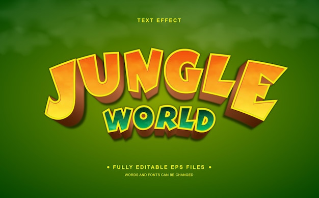 Jungle editable text effect