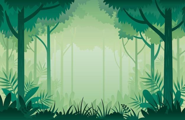 Джунгли, лес рамка фон рамка