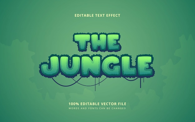 Jungle forest text style editable words and fonts