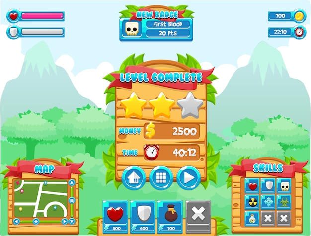 Jungle game interface