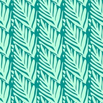 Бесшовный узор из джунглей. экзотическое растение. тропический узор, пальмовые листья бесшовные векторные цветочный фон.
