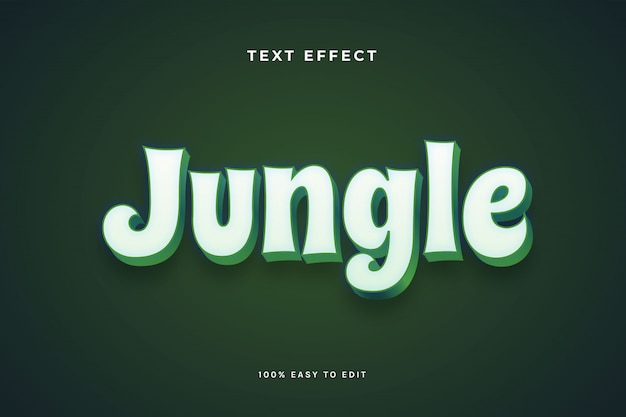Jungle green white text effect