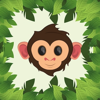 Jungle monkey cartoon