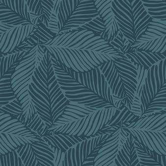 Бесшовный узор из джунглей. экзотическое растение. тропический принт, пальмовые листья вектор цветочный фон.