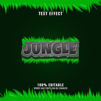 Jungle stone with grass nature text effect