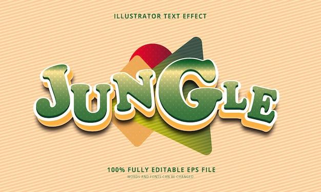 Jungle text effect editable eps file