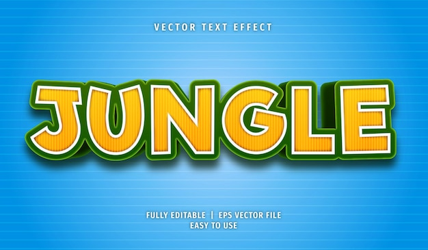 Jungle text effect, editable text style
