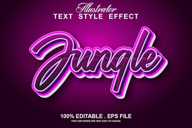Jungle text effect editable