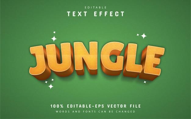 Jungle text effect