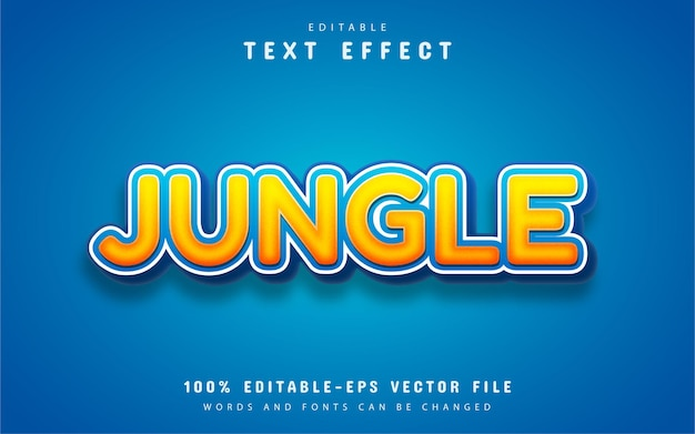 Jungle text, orange cartoon style text effect