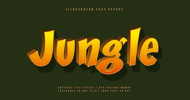 Jungle vibrant cartoon text font effect