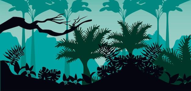Джунгли дикая природа зеленый цвет пейзаж