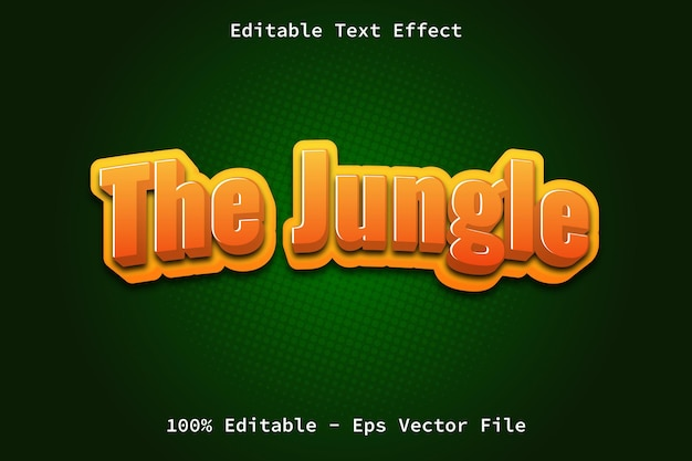 The jungle with cartoon style text effect