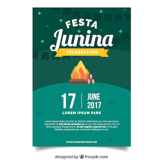 Junina party flyer