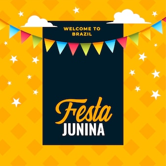 Феста junina празднование фоне бразильского фестиваля