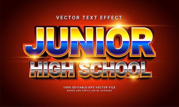 中学校編集可能なテキストスタイル効果をテーマにした教育学校