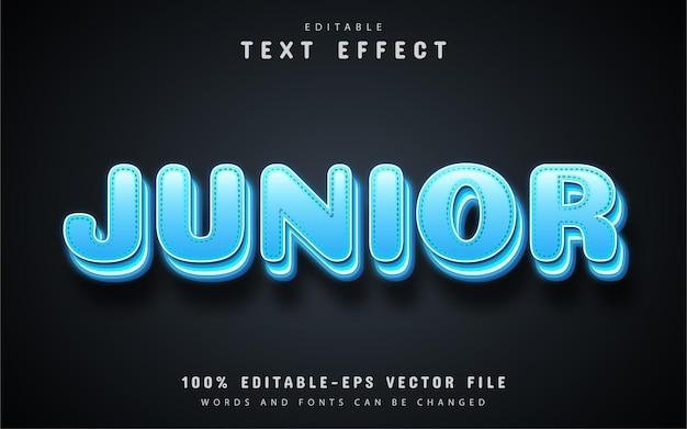 Junior text, editable 3d style text effect