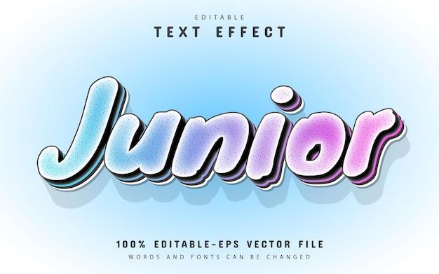Junior text, editable text effect