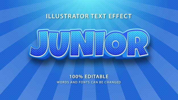 Junior text style effect, editble text