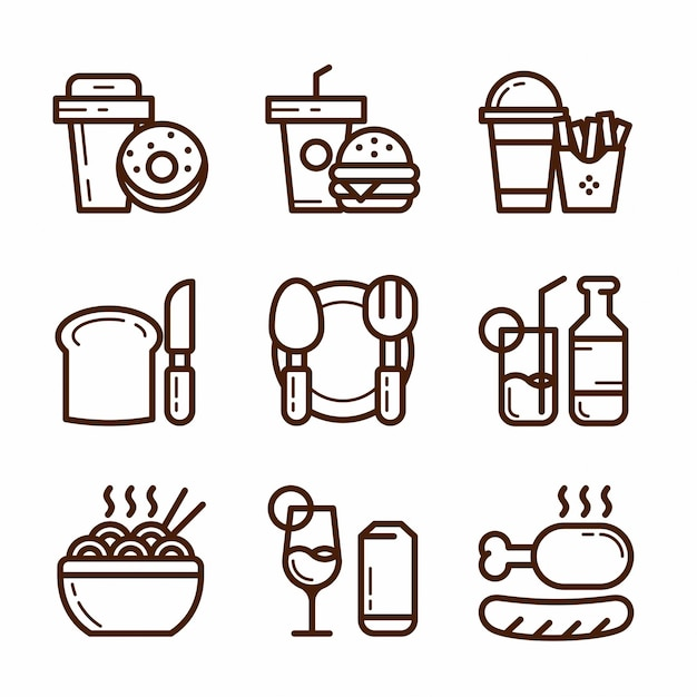 Junkfood icon set