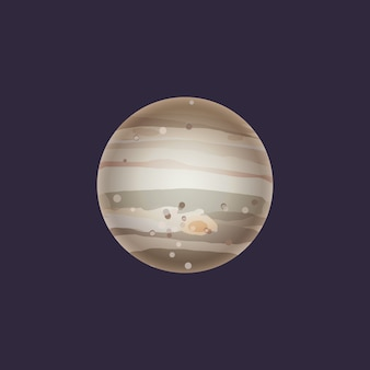 Jupiter planet in deep space icon