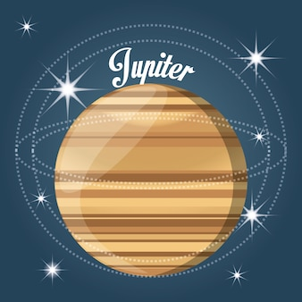 Jupiter planet in the solar system creation