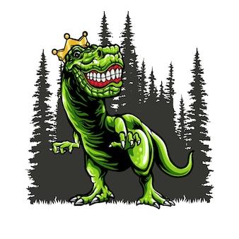 ジャングルのイラストでジュラシック恐竜