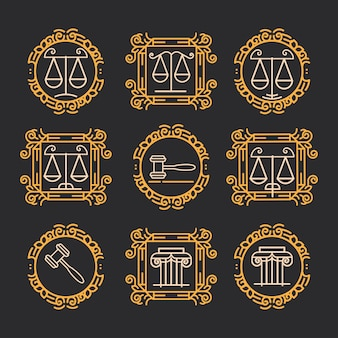 Juridical firm labels and badge