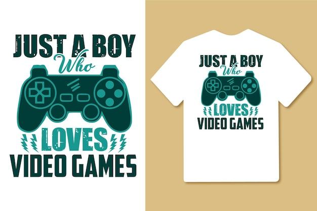 비디오 게임 타이포그래피 인용문 디자인을 사랑하는 소년