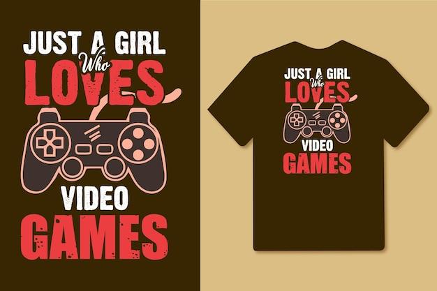 ビデオゲームのタイポグラフィデザインが大好きな女の子