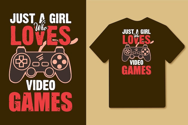 Just a girl who loves video games typography design