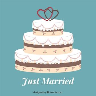 Только что женился торт