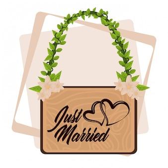 Just married cartoon