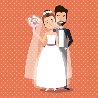 Just married couple avatars characters